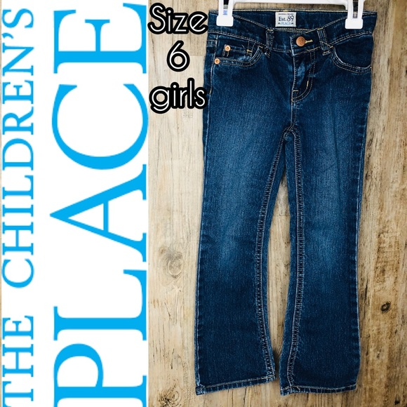 Children's Place Other - Stretchy adjustable bootcut blue jeans- Kids